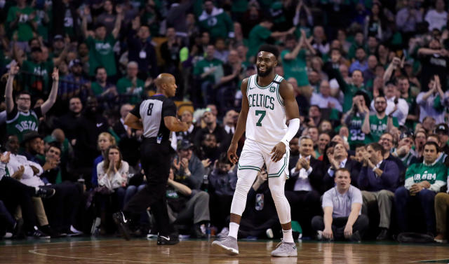Jaylen Brown had 30 points on 12-of-22 shooting Tuesday night. (AP)