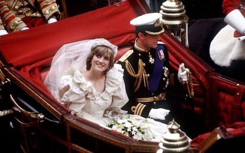The Prince and late Princess of Wales return to Buckingham Palace by carriage after their wedding, July 29, 1981 - Credit: Hulton Royals Collection/Princess Diana Archive