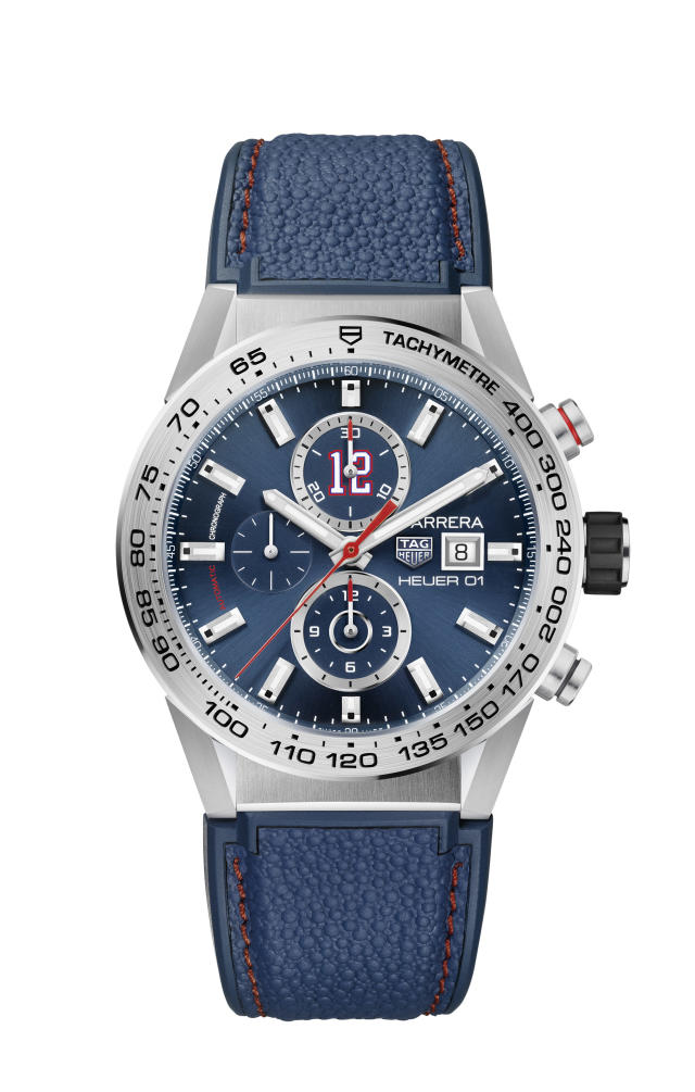 The Heuer 01 chronograph that Brady helped design. (Photo: Courtesy of Tag Heuer)