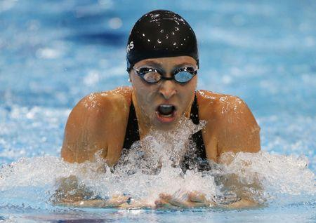 Ariana Kukors of the U.S. swims in her women's 200m individual medley semi-final during the London 2012 Olympic Games