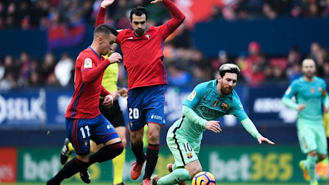 Barcelona's next opponents Osasuna have launched a new kit as television broadcasters felt they would be unable to tell the teams apart.