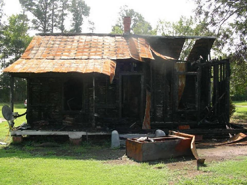 The Moses family house outside Rich Square where Daniel Moses was last seen on June 16, 2011, the same day it burned.