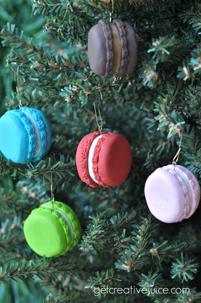 """<p><span>TBH, these are easier to make than the real deal. No baking skills are required!</span></p><p>Get the tutorial at <a href=""""http://www.getcreativejuice.com/2013/11/polymer-clay-french-macaron-ornament-tutorial.html"""" rel=""""nofollow noopener"""" target=""""_blank"""" data-ylk=""""slk:Creative Juice"""" class=""""link rapid-noclick-resp"""">Creative Juice</a>.<br></p>"""