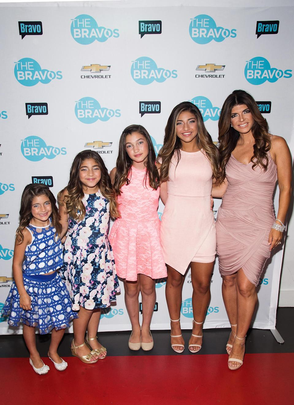 Teresa Giudice is catching heat for her daughters' deep tans. (Photo: Getty Images)