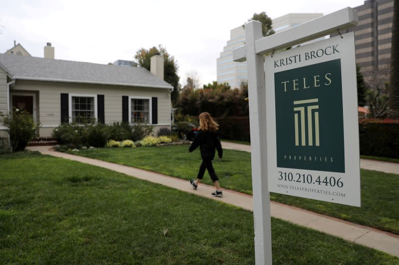 FILE PHOTO: A home for sale is seen in Santa Monica