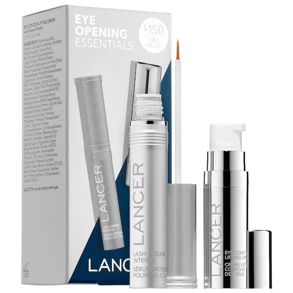 <p>Take on both dark circles and brittle lashes with the lash serum and eye contour cream found in the <span>Lancer Skincare Eye Opening Essentials Duo</span> ($135, originally $150).</p>