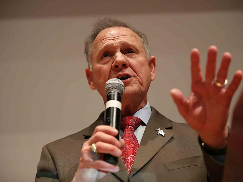 Republican candidate Roy Moore told his supporters his senate race was
