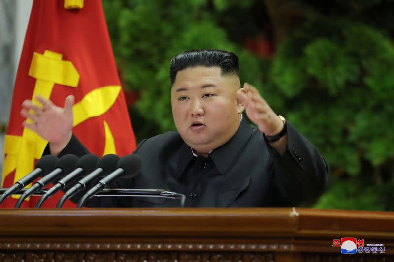 North Korea's Kim holds ruling party's plenary meeting before year-end deadline