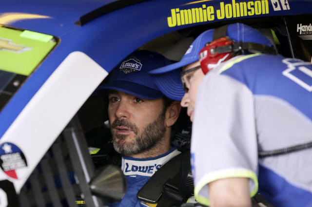 "<a class=""link rapid-noclick-resp"" href=""/nascar/sprint/drivers/213/"" data-ylk=""slk:Jimmie Johnson"">Jimmie Johnson</a> hasn't won at Phoenix since 2009. He likely needs a win on Sunday. (AP Photo/LM Otero)"