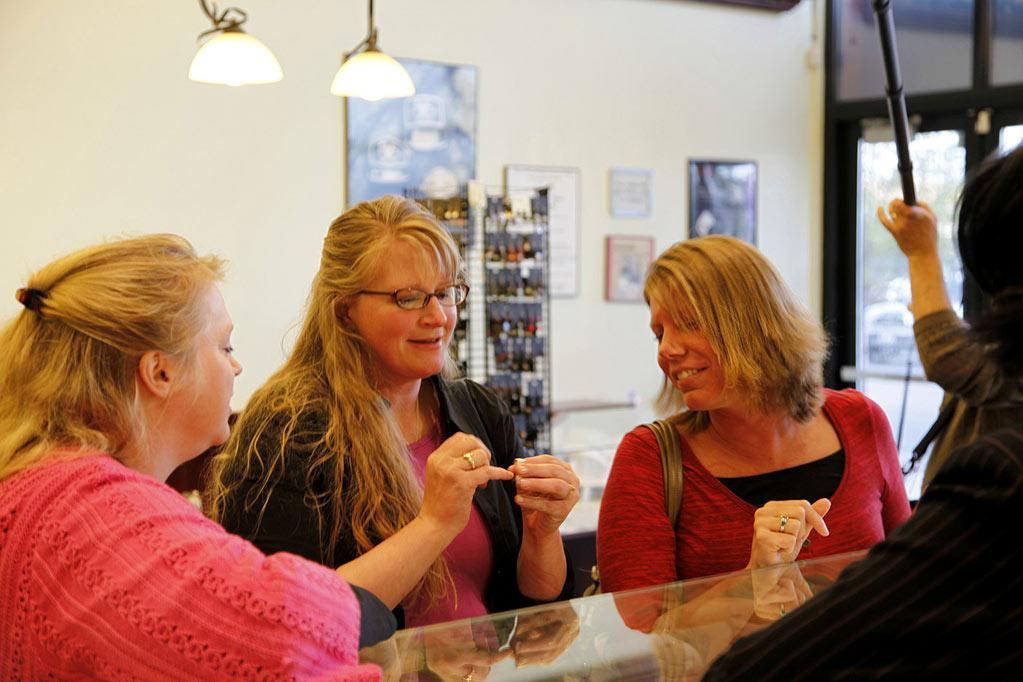 "Janelle, Christine, and Meri Brown shop for a ring for Robyn Sullivan, their soon-to-be Sister Wife on ""Sister Wives."""