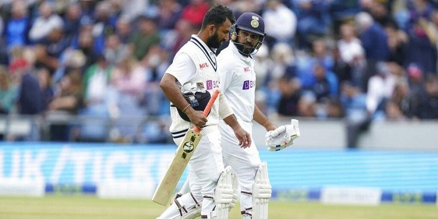 India reach 112/1 at tea on Day 3, trail by 242 runs- The New Indian Express