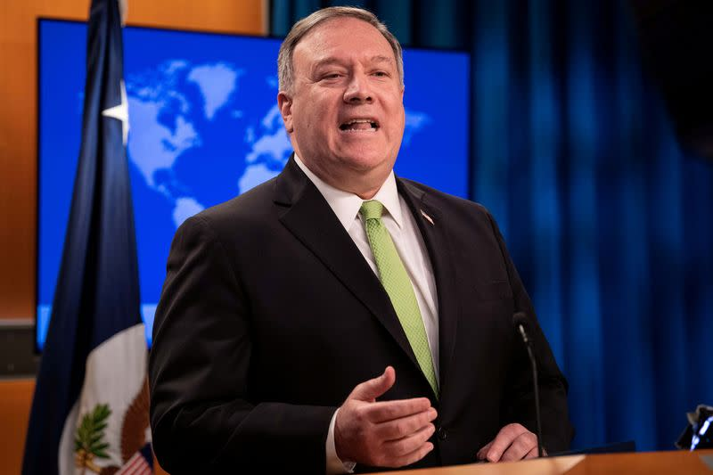 Pompeo chides HSBC for 'corporate kowtow' to Beijing