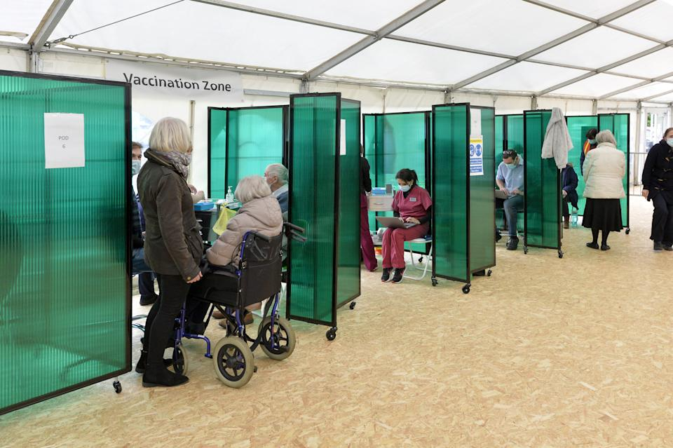 COVID-19 vaccinations taking place at a new NHS walk-in facility in York (swns)
