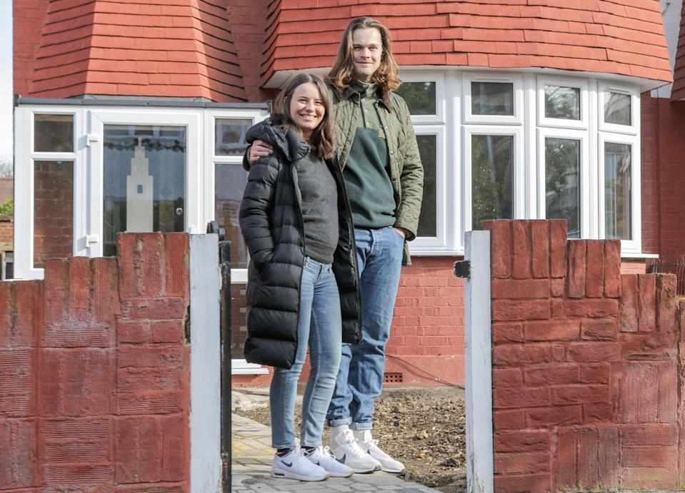 <p>Luba Gadjourov and her husband, James Reardon managed to trade in their flat in Stratford for a house in Walthamstow</p> (Matt Writtle)