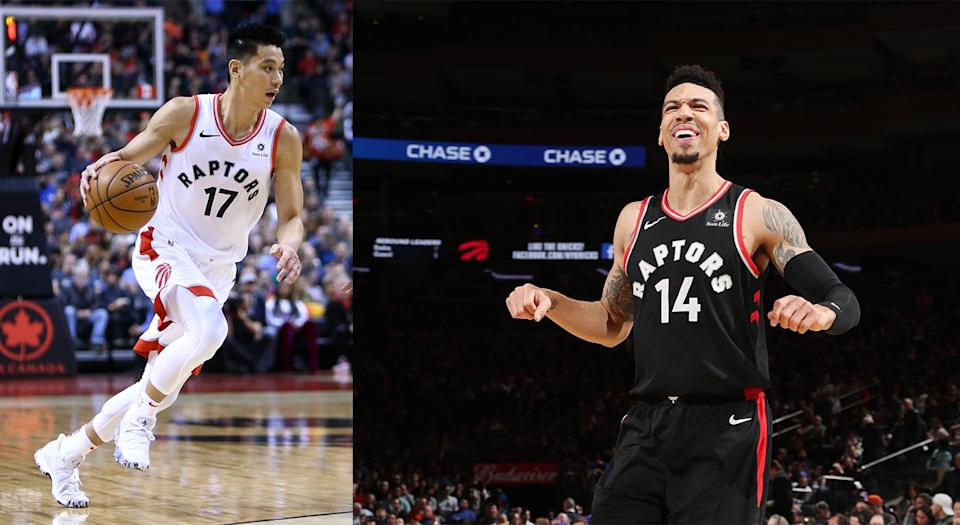 Jeremy Lin and Danny Green went through plenty while playing D-League basketball together about a decade ago. (Getty)