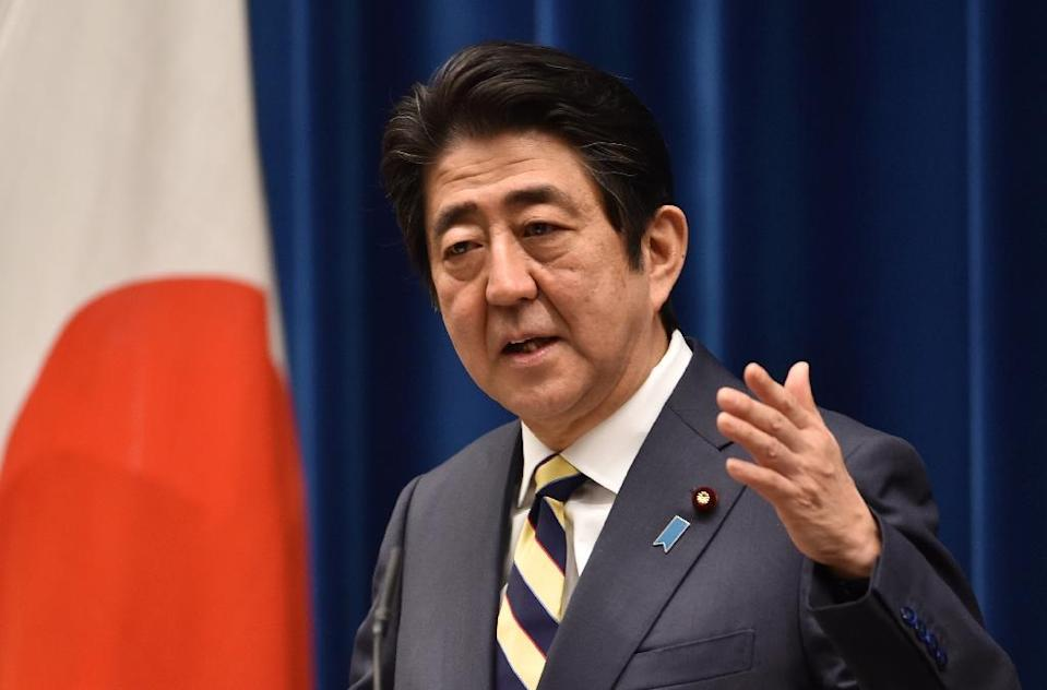 Prime Minister Shinzo Abe says Japan must have nuclear power to secure a stable energy supply (AFP Photo/Kazuhiro Nogi)