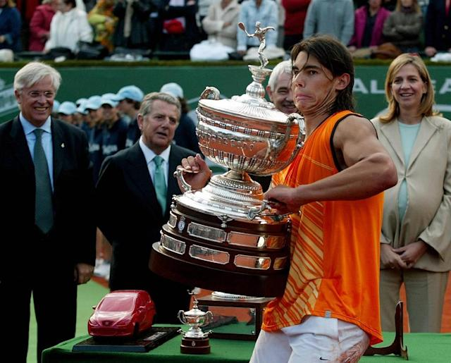 Rafael Nadal lifted the first of his Barcelona titles in 2005 and is on course for a record 12th (AFP Photo/CESAR RANGEL)