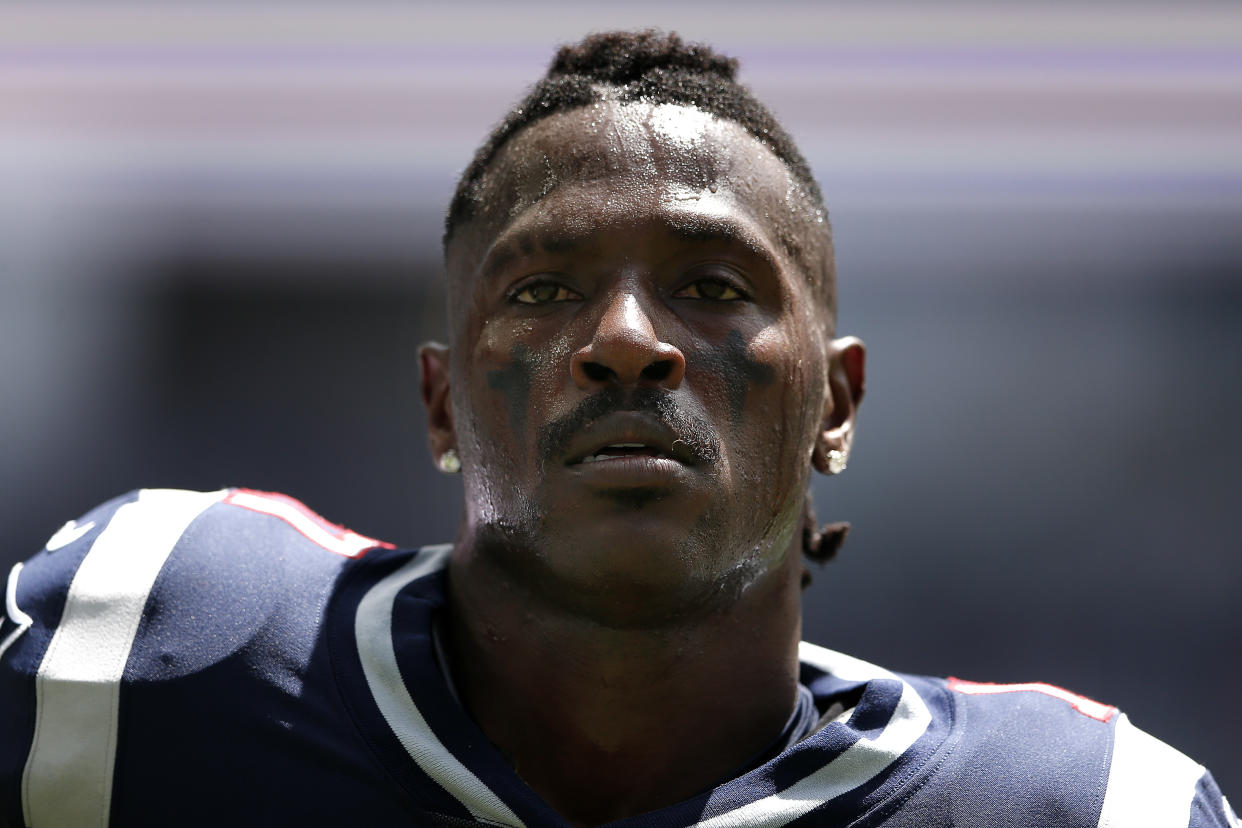 Antonio Brown blames his rape accuser for recent financial losses in a countersuit made public on Wednesday. (Michael Reaves/Getty Images)