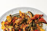 """The flavor in this dish is all about getting the squash and scallions to char. Of course, the creamy lemon-tahini sauce helps, too. <a href=""""https://www.epicurious.com/recipes/food/views/roasted-squash-with-lemon-tahini-sauce-51134000?mbid=synd_yahoo_rss"""" rel=""""nofollow noopener"""" target=""""_blank"""" data-ylk=""""slk:See recipe."""" class=""""link rapid-noclick-resp"""">See recipe.</a>"""