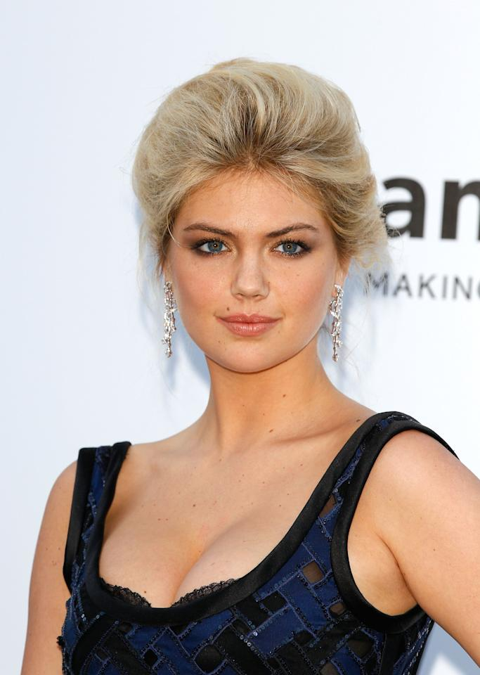 CAP D'ANTIBES, FRANCE - MAY 24:  Model Kate Upton arrives at the 2012 amfAR's Cinema Against AIDS during the 65th Annual Cannes Film Festival at Hotel Du Cap on May 24, 2012 in Cap D'Antibes, France.  (Photo by Andreas Rentz/Getty Images)
