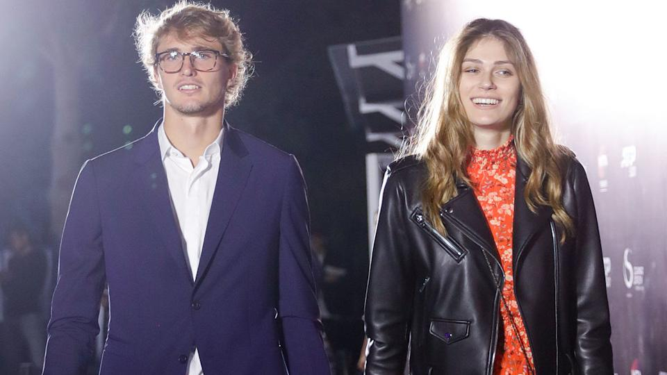 Alexander Zverev and Olga Sharypova, pictured here at the China Open in 2019.