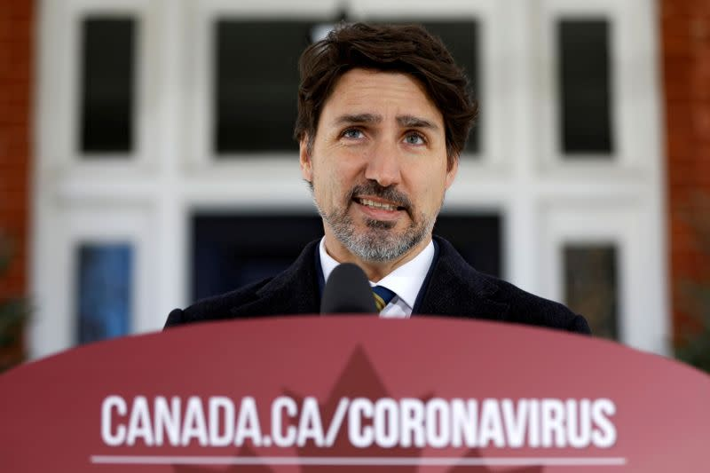 Canada's army not needed right now to help combat coronavirus spread, Trudeau says