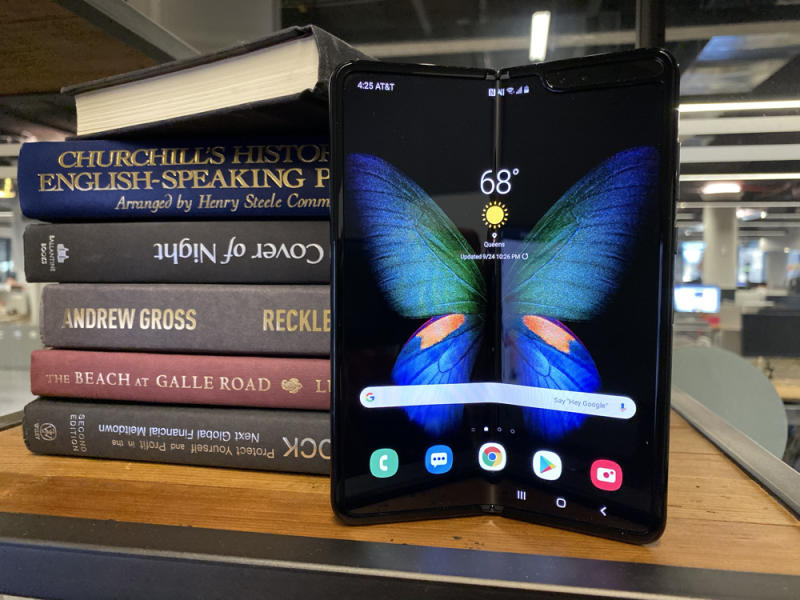 Samsung's Galaxy Fold is an impressive piece of technology, but too pricey for the average person. (Image: Howley)