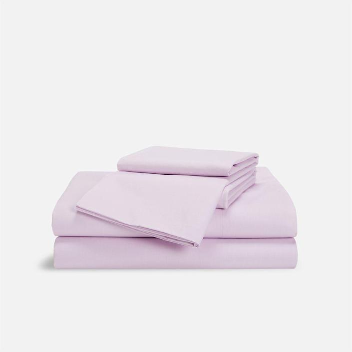 """<p><strong>Brooklinen</strong></p><p>Brooklinen</p><p><strong>$175.00</strong></p><p><a href=""""https://go.redirectingat.com?id=74968X1596630&url=https%3A%2F%2Fwww.brooklinen.com%2Fproducts%2Fluxe-core-sheet-set&sref=https%3A%2F%2Fwww.goodhousekeeping.com%2Flife%2Fmoney%2Fg36355085%2Fmost-popular-products-april-2021%2F"""" rel=""""nofollow noopener"""" target=""""_blank"""" data-ylk=""""slk:Shop Now"""" class=""""link rapid-noclick-resp"""">Shop Now</a></p><p>The Textiles Lab loves these sheets, the enduring best overall sheets in Lab tests for years for a number of reasons: They're buttery-smooth, <strong>easy to set up thanks to their long and short labels</strong> and boast a 480-thread count. </p>"""
