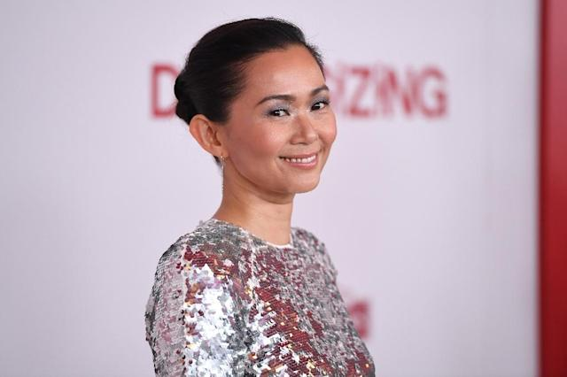 Actress Hong Chau arrives for a special screening of <em>Downsizing</em> at the Regency Village Theatre in Los Angeles. (AFP Photo/Robyn Beck)