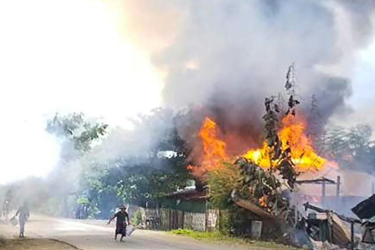 In the Namg Kar village, scores of homes have been razed by the military, local residents said (AFP/Handout)
