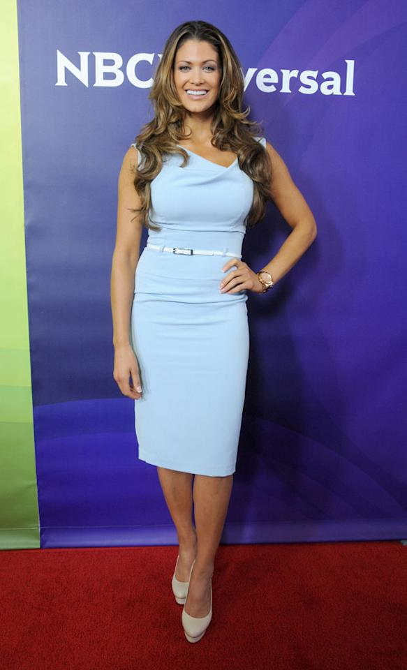 """Eve Torres (""""Stars Earn Stripes"""") arrives at the NBC Universal Summer 2012 Press Tour at The Beverly Hilton Hotel on July 24, 2012 in Beverly Hills, California."""