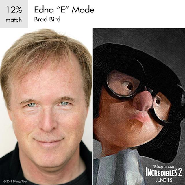 Director Brad Bird as Edna Mode in Pixar's <em>Incredibles 2</em>. (Image: Disney)
