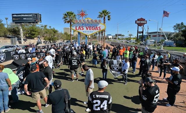 The Raiders land in Vegas in 2020. The NFL draft could land there too. (Photo by Sam Wasson/Getty Images)