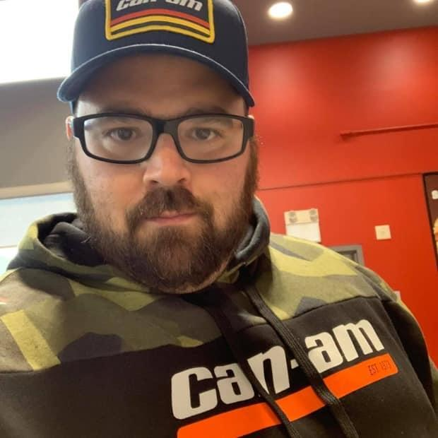 Luc Bélanger, 38, of Saint-Basile in Zone 4 died Tuesday as a result of underlying complications, including COVID-19. He is the youngest person to die of COVID-related complications in New Brunswick. (Bellavance Funeral Home/Radio-Canada - image credit)