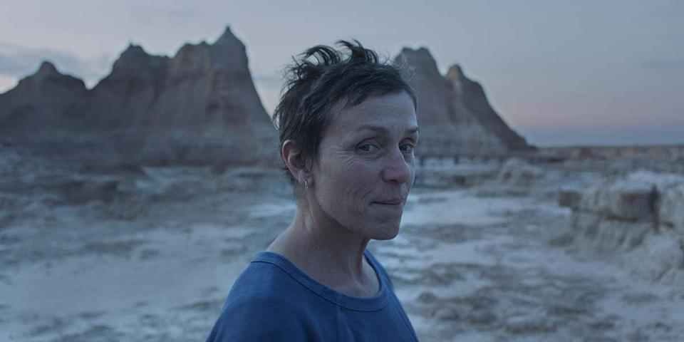 Frances McDormand in Chloé Zhao's <em>Nomadland</em>. (Photo: Courtesy of TIFF)