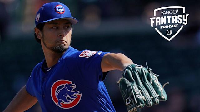 """<a class=""""link rapid-noclick-resp"""" href=""""/mlb/players/9095/"""" data-ylk=""""slk:Yu Darvish"""">Yu Darvish</a> is just one of the interesting fantasy options on the Chiacgo Cubs pitching staff (Getty Images)."""