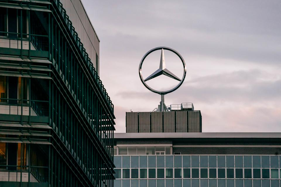STUTTGART, GERMANY - FEBRUARY 10: The corporate headquarter of Daimler AG is seen prior to Daimler's annual press conference to announce financial results for 2019 on February 10, 2020 in Stuttgart, Germany. Daimler, one of Germany's biggest and most prestigious companies, had a difficult 2019, due partially to ongoing lawsuits related to its previous diesel emissions manipulations. (Photo by Thomas Niedermueller/Getty Images)