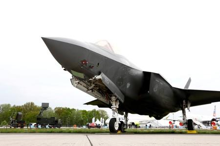 FILE PHOTO: A Lockheed Martin F-35 aircraft is seen at the ILA Air Show in Berlin, Germany
