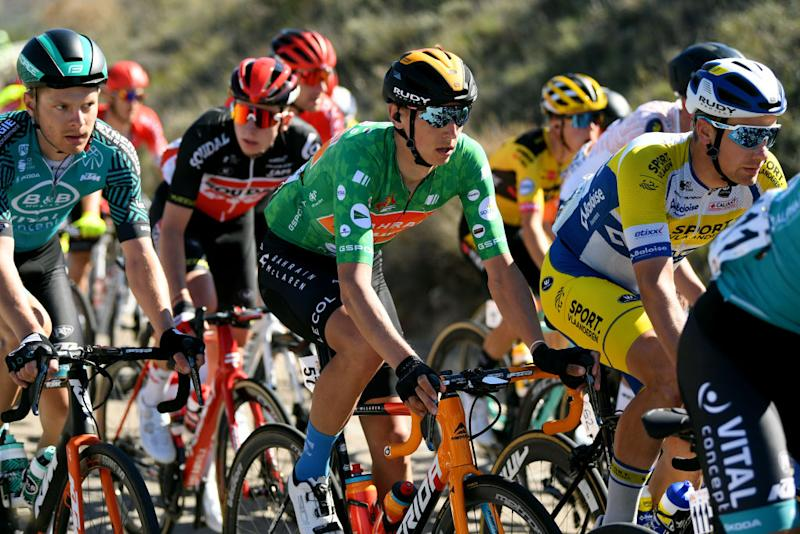 BEDA SPAIN FEBRUARY 21 Dylan Teuns of Belgium Team Bahrain McLaren Green Points Jersey during the 66th Vuelta a Andaluca Ruta del Sol 2020 Stage 3 a 1769km stage from Jan to beda 727m VCANDALUCIA UCIProSeries on February 21 2020 in beda Spain Photo by David RamosGetty Images