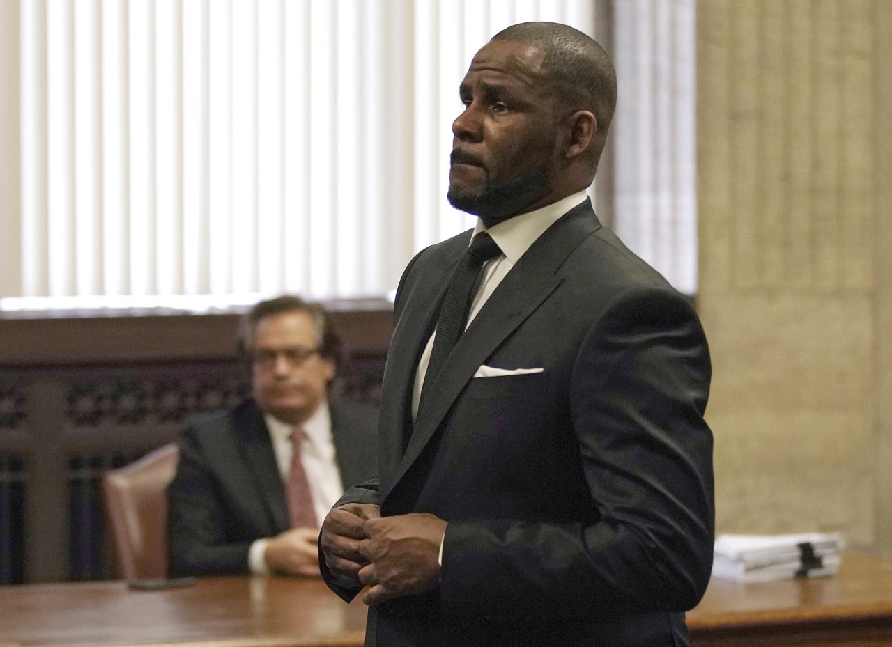 <p> FILE - In this Friday, March 22, 2019 file photo, R. Kelly appears for a hearing at the Leighton Criminal Court Building in Chicago, Illinois. Dubai's government on Sunday forcefully denied a claim by R&B singer R. Kelly that the artist had planned concerts in the sheikhdom after he had sought permission from an Illinois judge to travel here despite facing sexual-abuse charges. (E. Jason Wambsgans/Chicago Tribune via AP, Pool, File) </p>