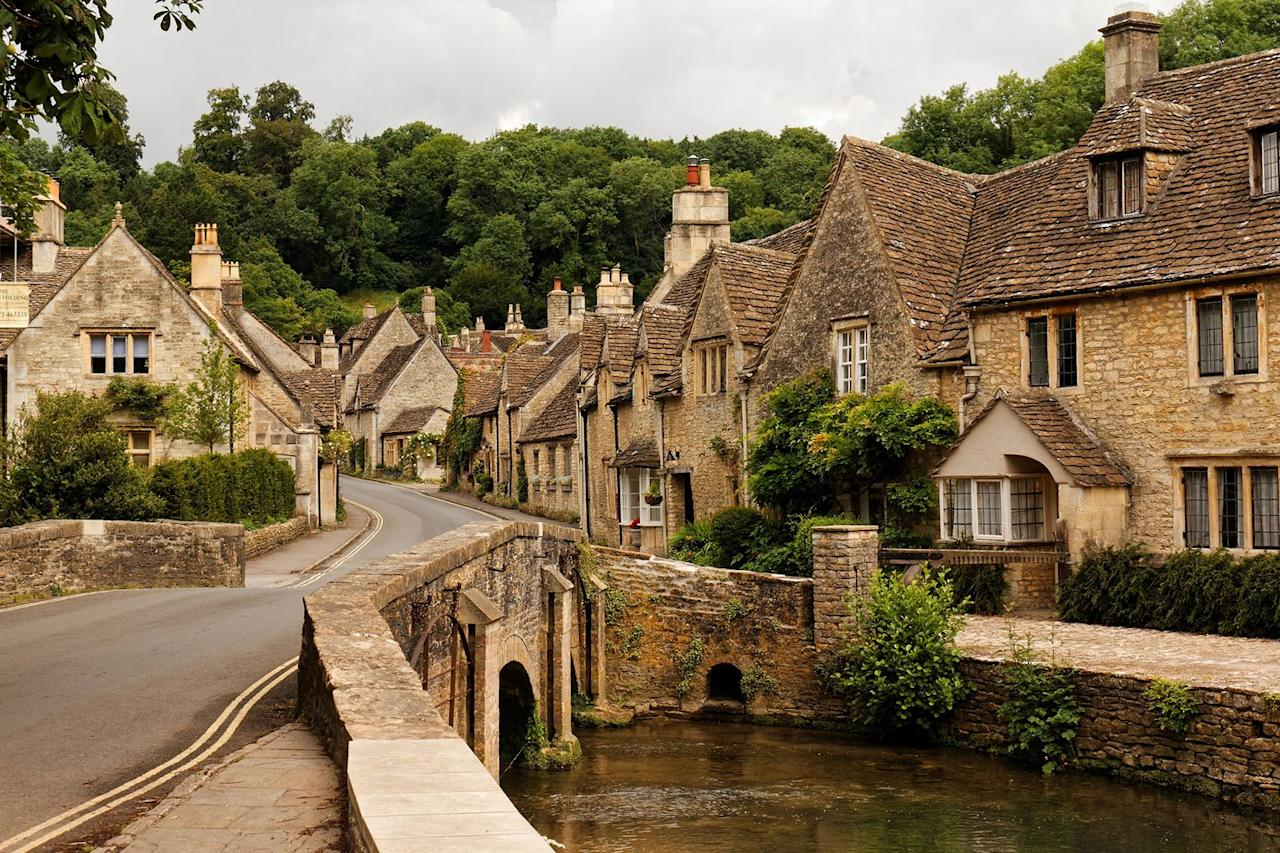 "<p>Famed for its honey-coloured houses and quaint streets, Castle Combe in Wiltshire is often known as one of the prettiest streets in England. </p><p>Stay at the luxurious and dog-friendly Lucknam Park, just 10 minutes from Castle Combe with Country Living's exclusive hotel offer. </p><p><a class=""body-btn-link"" href=""https://countryliving.tripsmiths.com/offers/cotswolds-lucknam-park-dog-friendly-hotel-offer"" target=""_blank"">BOOK NOW</a></p>"