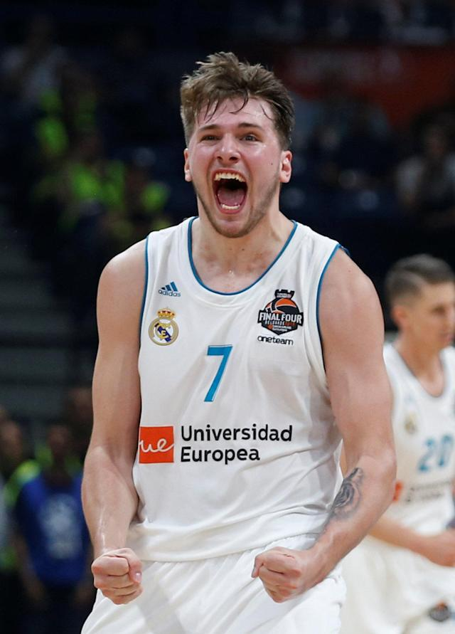 Basketball - Euroleague Final Four Final - Real Madrid vs Fenerbahce Dogus Istanbul - Stark Arena, Belgrade, Serbia - May 20, 2018 Real Madrid's Luka Doncic reacts REUTERS/Alkis Konstantinidis