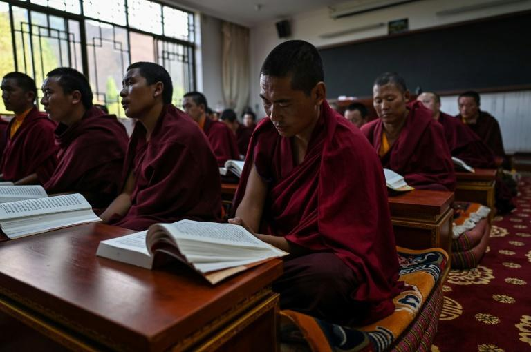 Monks, nuns and novices rehearsed religious texts, showed off their English and demonstrated traditional Buddhist debates