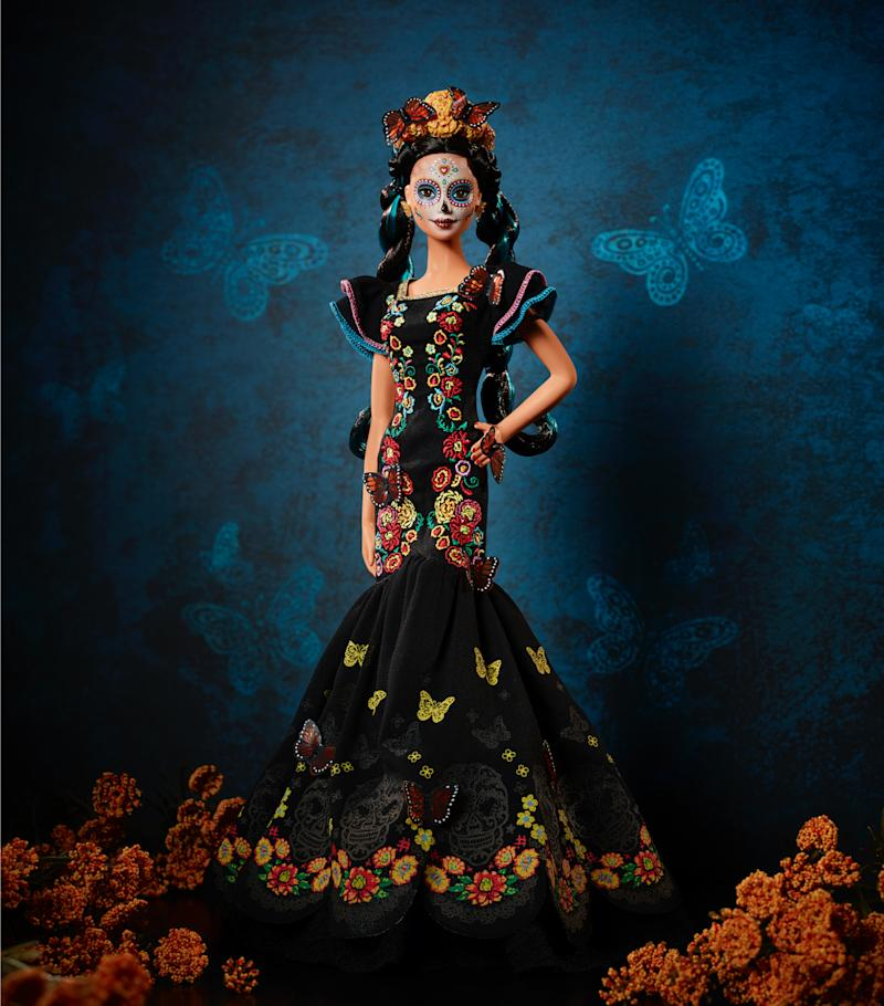 Mattel is releasing 'Barbie Día de Muertos,' available starting September 12. (Photo: Courtesy of Mattel, Inc.)