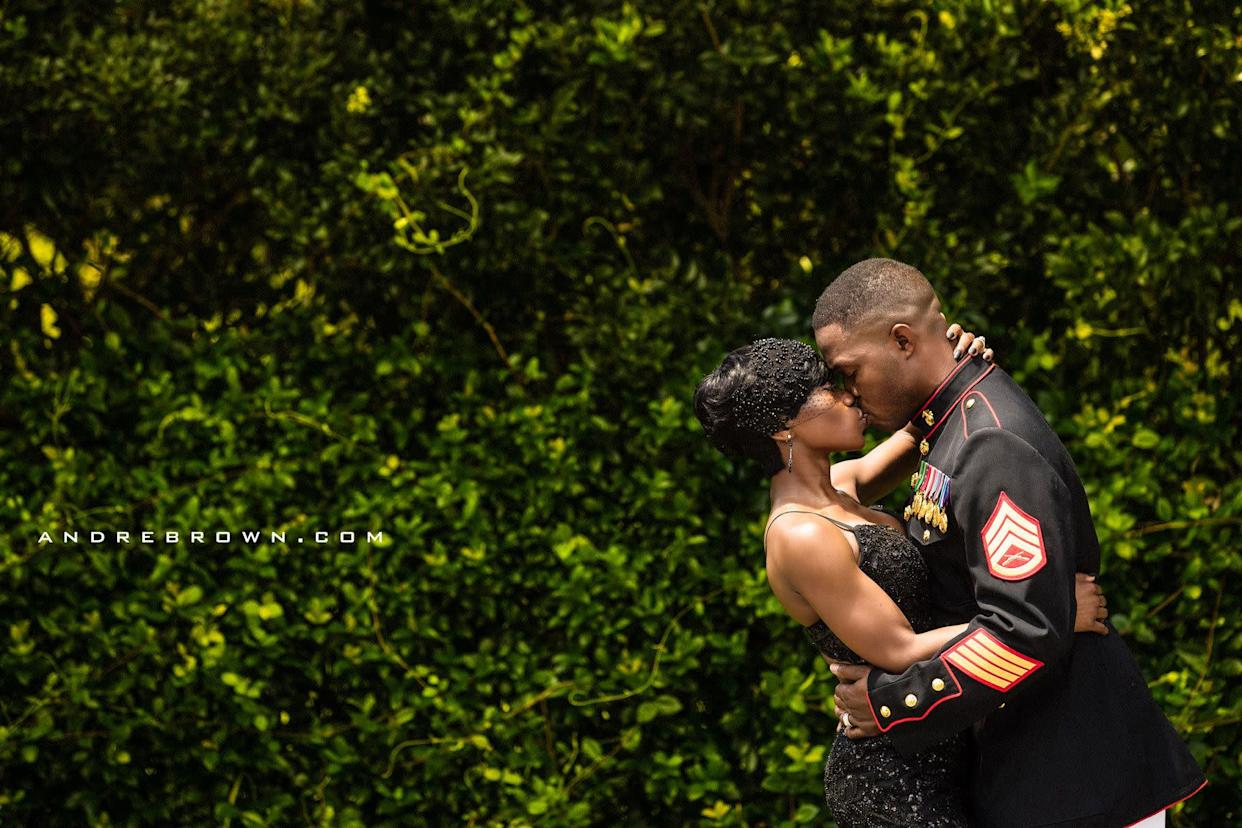 """""""South Carolina bride Nakita surprises her Marine Corps veteran fianc&eacute; with a wedding on the 4th of July."""" --&nbsp;<i>Andre Brown</i>"""