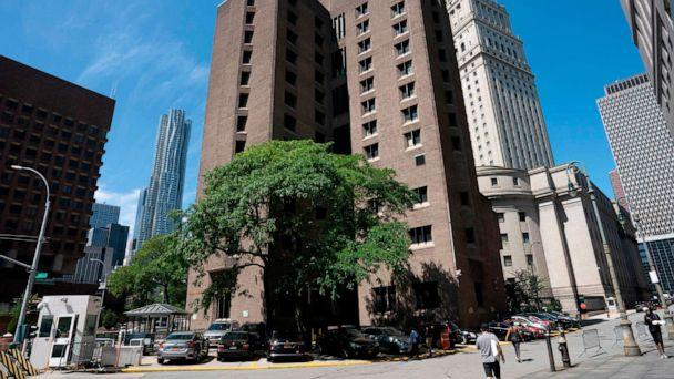 PHOTO: This file photo taken on Saturday, Aug. 10, 2019, shows the Metropolitan Correctional Center where financier Jeffrey Epstein was being held before his alleged suicide. (Don Emmert/AFP/Getty Images)