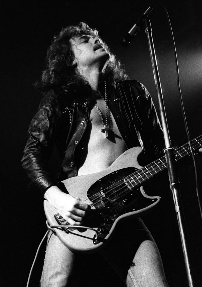 Alan Lancaster playing in Newcastle in 1976.