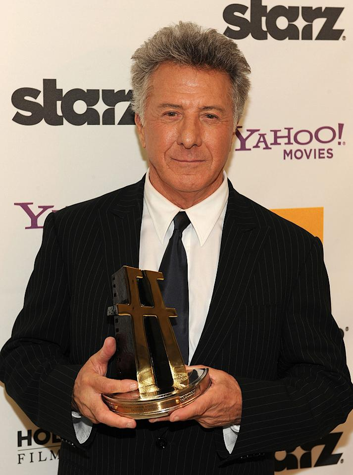 """<a href=""""http://movies.yahoo.com/movie/contributor/1800014129"""">Dustin Hoffman</a> backstage at the 12th Annual Hollywood Film Festival Awards Gala in Beverly Hills - 10/27/2008"""