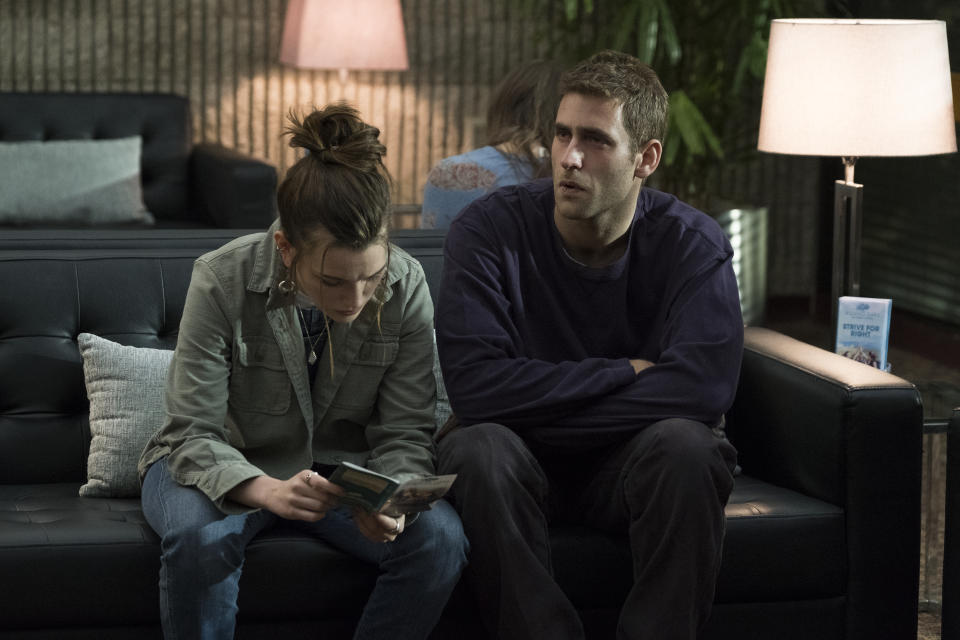 Victoria Pedretti and Oliver Jackson-Cohen as the adult Crain twins in <i>The Haunting of Hill House</i>. (Netflix)
