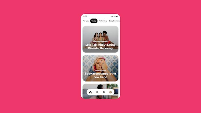 Pinterest changes policy to ban weight loss ads and plans to embrace body neutrality. (Photo: Pinterest)